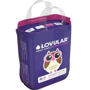Lovular ночные трусики-подгузники #5 XL, 12-17кг, 18шт (90540)