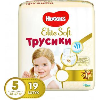 Huggies Elite Soft #5 трусики-подгузники, 12-17кг, 19шт (46988)