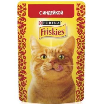 Friskies корм пауч для взрослых кошек, с индейкой, 85гр (96140)