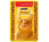 Friskies консервированный корм паучи для взрослых кошек, с индейкой в подливе, 85гр (96140)