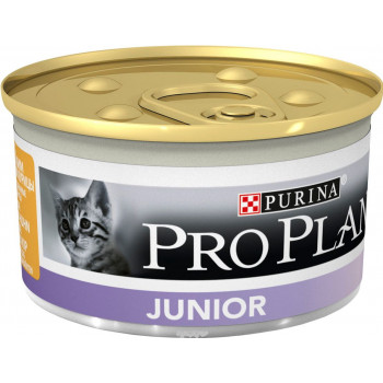 Pro Plan Junior корм для котят, мусс c курицей, 85гр (68619)