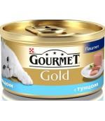 Gourmet Gold консервированный корм паштет для взрослых кошек, с тунцом, 85гр (81029)