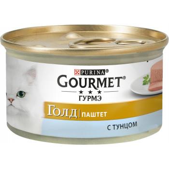 Gourmet Gold корм паштет для взрослых кошек, с тунцом, 85гр (81029)