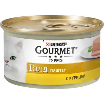 Gourmet Gold корм паштет для взрослых кошек, с курицей, 85гр (81494)