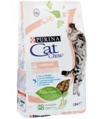 Cat Chow Sensetive сухой полнорационный корм для взрослых кошек с чувствительным пищеварением, с домашней птицей и лососью, 1,5кг (45445)