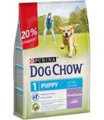 Dog Chow Puppy сухой полнорационный корм для щенков, с ягненком, до 1 года, 2,5кг (94846)