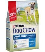 Dog Chow Large Breed Adult сухой полнорационный корм для взрослых собак крупной породы, с индейкой, старше 2 лет, 2,5кг (94358)