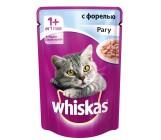 Whiskas консервированный корм для взрослых кошек, рагу с форелью, 85гр (72071)