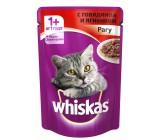 Whiskas консервированный корм для взрослых кошек, рагу с говядиной и ягненком, 85гр (03999)