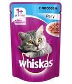Whiskas консервированный корм для взрослых кошек, рагу с лососем, 85гр (72057)