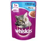 Whiskas консервированный корм для взрослых кошек, желе с лососем, 85гр (72156)