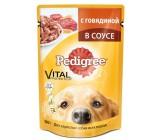 Pedigree консервированный корм для взрослых собак всех пород, с говядиной в соусе, 100гр (57361)