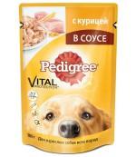 Pedigree консервированный корм для взрослых собак всех пород, с курицей в соусе, 100гр (57378)