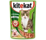 Kitekat консервированный корм для взрослых кошек, с кроликом в соусе, 85гр (76062)