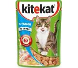 Kitekat консервированный корм для взрослых кошек, с рыбой в соусе, 85гр (76048)