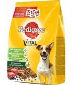 Pedigree Vital protection сухой полнорационный корм для взрослых собак маленьких пород, с говядиной, 600гр (02541)