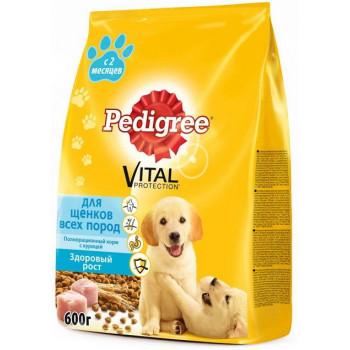 Pedigree Vital protection сухой корм для щенков всех пород, с курицей, 600гр (02527)