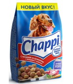 Chappi сухой полнорационный корм для взрослых собак всех пород, Сытный мясной обед, с говядиной по-домашнему, 600гр (25476)