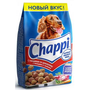Chappi сухой корм для взрослых собак всех пород, Сытный мясной обед, с говядиной по-домашнему, 600гр (25476)