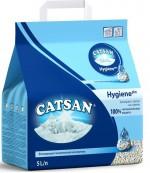 Catsan Hygiene plus Впитывающий гигиенический наполнитель для кошачьих туалетов, запирает запах на замок, 5л (08535)
