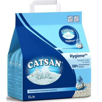 Catsan Hygiene plus наполнитель для кошачьих туалетов, впитывающий, запирает запах на замок, 5л (08535)0