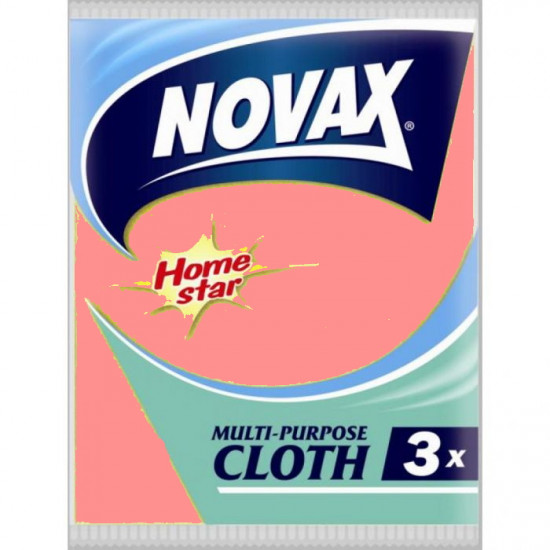Novax Home Star универсальные тряпки, 3шт (02072)