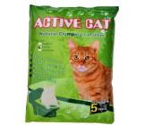 Active Cat гигиенический наполнитель для кошачьих туалетов, бентонит, комкующийся, с ароматом лимона, 5л (00059)