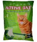 Active Cat гигиенический наполнитель для кошачьих туалетов, бентонит, комкующийся, с ароматом зеленого яблока, 5л (17173)