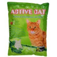 Active Cat гигиенический наполнитель для кошачьих туалетов, бентонит, комкующийся, с ароматом клубники, 5л (17166)