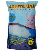 Active Cat силикагелевый гигиенический наполнитель для кошачьих туалетов, без запаха, 3.8л (00035)