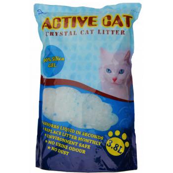 Active Cat силикагелевый наполнитель для кошачьих туалетов, без запаха, 3.8л (00035)