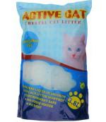 Active Cat силикагелевый гигиенический наполнитель для кошачьих туалетов, с ароматом яблока, 3.8л (17197)