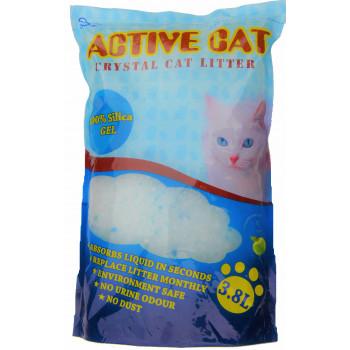 Active Cat силикагелевый наполнитель для кошачьих туалетов, с ароматом яблока, 3.8л (17197)