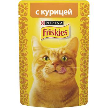 Friskies корм пауч для взрослых кошек, с курицей, 85гр (69750)