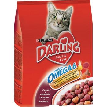 Darling сухой корм для взрослых кошек, с мясом по-домашнему и овощами, 2кг (53839)