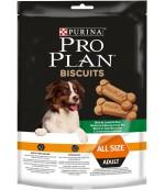 Pro Plan Biscuits сухой неполнорационный корм для взрослых собак, печенье с ягненком и рисом, 400гр (51986)