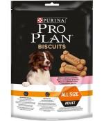Pro Plan Biscuits сухой неполнорационный корм для взрослых собак, печенье с лососем и рисом, 400гр (51993)