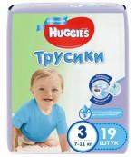 Huggies #3 подгузники-трусики 7-11кг, для мальчиков, 19шт (45790)