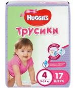 Huggies #4 подгузники-трусики 9-14кг, для девочек, 17шт (43970)