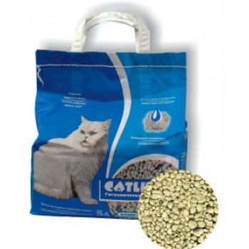 Catlitter наполнитель для кошачьих туалетов, комкующийся, минеральные гранулы, 5л (32422)