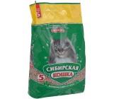 Сибирская кошка Лесной Супервпитывающий гигиенический наполнитель для кошачьих туалетов, защита от запаха, древесные гранулы, 5л (30022)