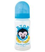 Cuipo B.Y.O.B пластиковая бутылочка, с круглой силиконовой соской, 1 капля - 1 отверстие, синяя, 0-24 месяцев, 300мл (42193)
