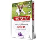 Чистотел Максимум капли от блох и клещей для собак, с маслом лаванды, 4 тюбик-пипетки по 1мл (74733)
