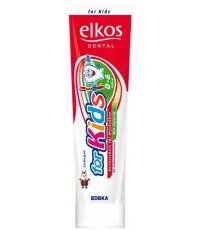 Elkos детская зубная паста, c ароматом клубники, 100мл (53032)