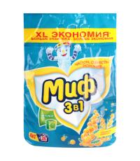 Миф стиральный порошок автомат 3 в 1, Свежесть мимозы, 4кг (58062)
