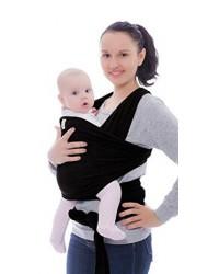 KeaBabies Wrap слинг-шарф 4в1, черный, 0-36 месяцев, 2.2-15кг (RKBQF)