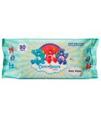 Care Bears детские влажные салфетки, гипоаллергенные, с алое и с витамином Е, 80шт (06262)