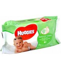 Huggies Natural Care детские влажные салфетки,с Алое Вера, 56шт (50152)