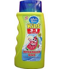 White Rain Kids 3 в 1 детский гипоаллергенный шампунь, кондиционер, гель для душа, Волна арбуза, 354мл (00034)