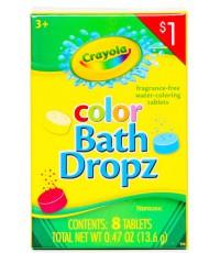 Crayola color Bath Dropz детские цветные таблетки для окрашивания воды, с 3-х лет, 8шт (95722)